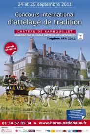 Affiche de concours international d'attelage de tradition au chateau de Rambouillet image