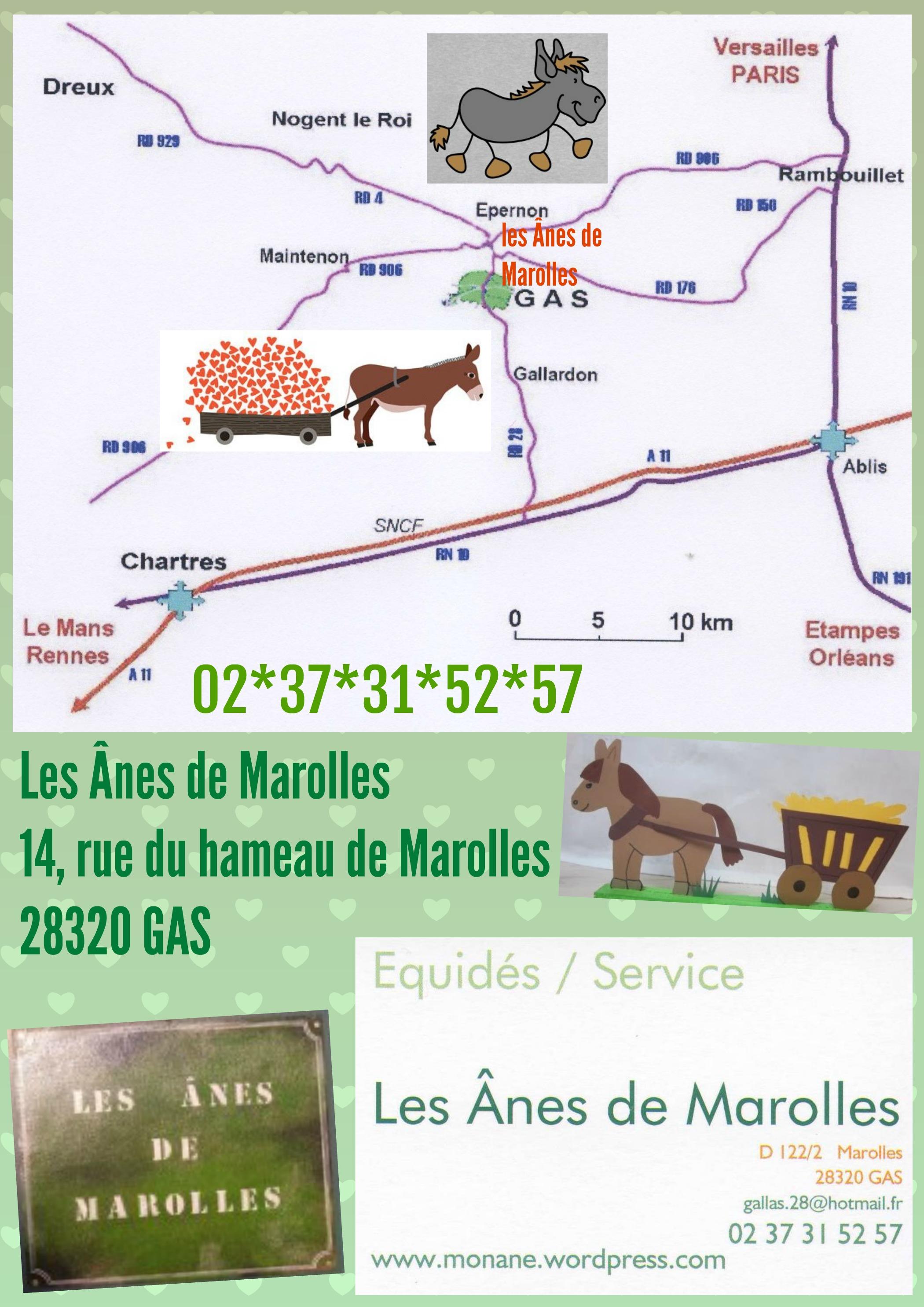 affiche Les Ânes de Marolles plan carte