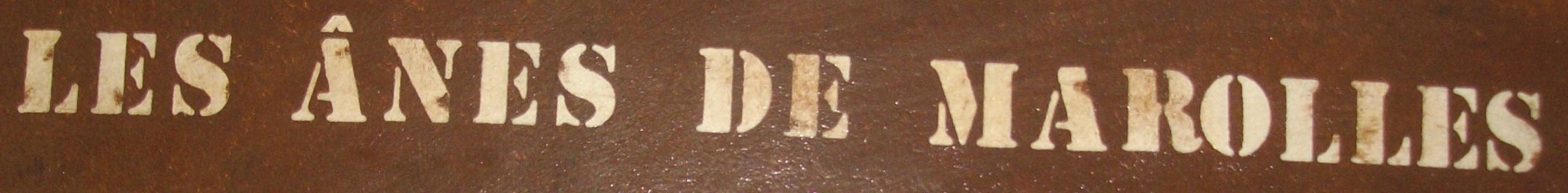 plaque de porte rouille les ânes de Marolles