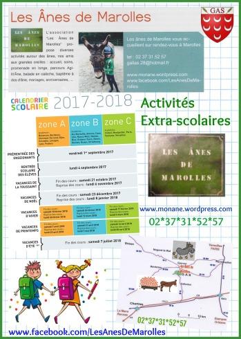 affiche activités extra scolaires 2017 2018