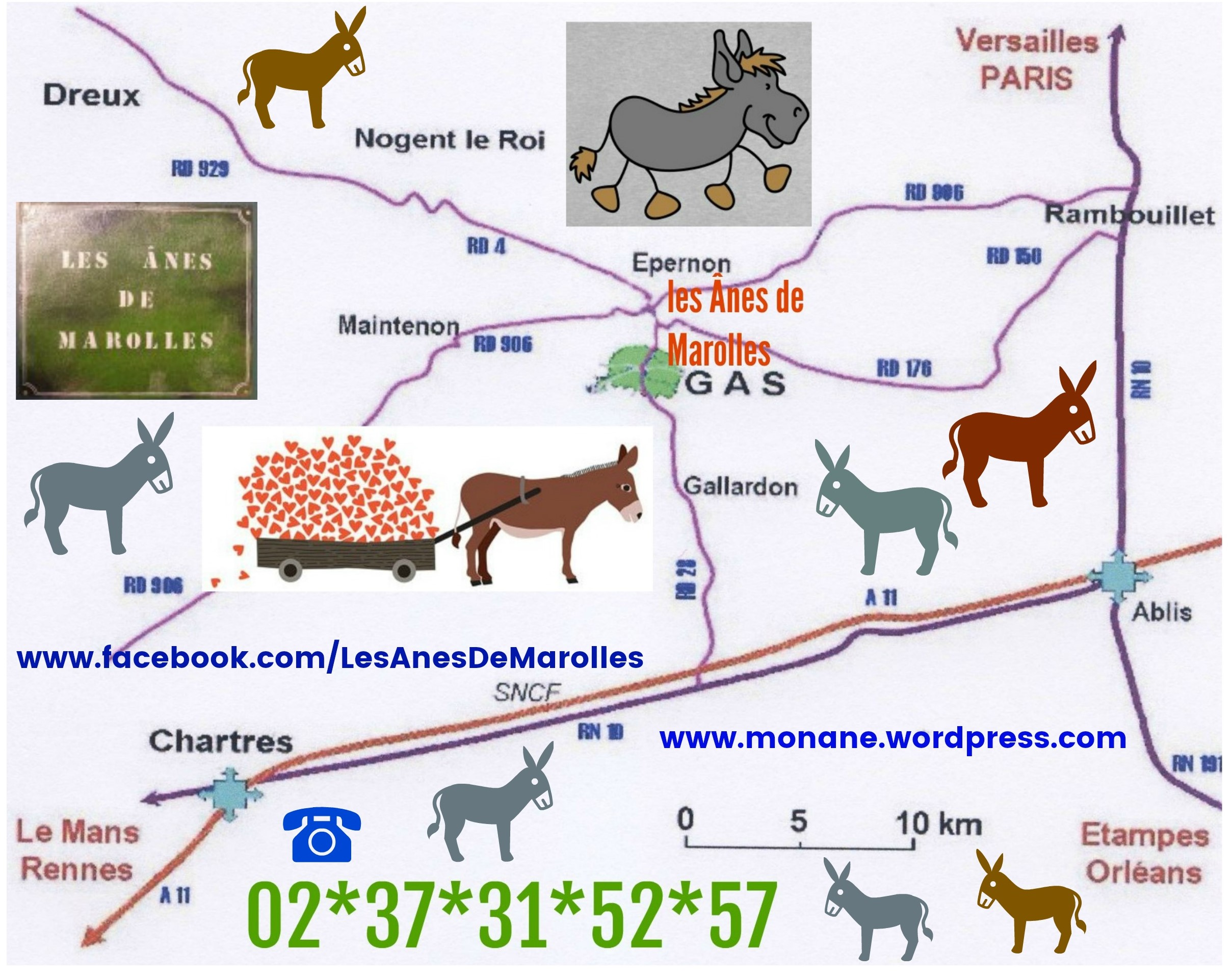 affiche plan Les Ânes de Marolles